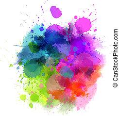 folt, többszínű