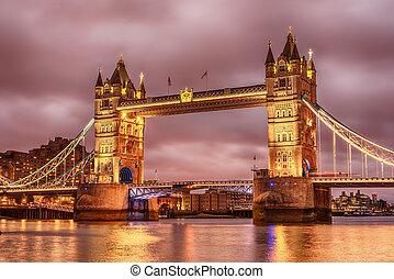 folyó, london, bástya, egyesült, thames, kingdom:, bridzs