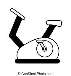 fonás, bicikli, elszigetelt, ikon