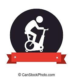 fonás, bicikli, tornaterem, ikon