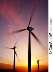 fonás, napnyugta, turbina, felteker, főszarufák