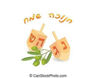 fonás, sevivon, hanukkah, vagy, tető, dreidel