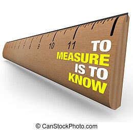 fontosság, vonalzó, -, metrics, ismer, felbecsül