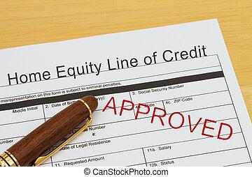 fordít, hitel, jogosság, otthon, egyenes, jóváhagyott