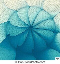 forgás, mosaic., movement., csavarodás