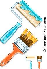 forgócsapok, söpör, festék, fenntartás, művek, eszközök