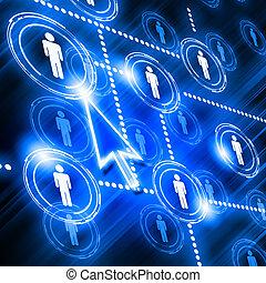formál, hálózat, társadalmi