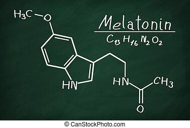 formál, melatonin, blackboard., szerkezeti