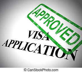 forma, -, ábra, jóváhagyott, alkalmazás, vízum, útlevél, megenged, bejárat, elfogadott, látszik, vagy, 3