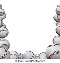 forma, évad, baseball, sport, baseball, sok, határ