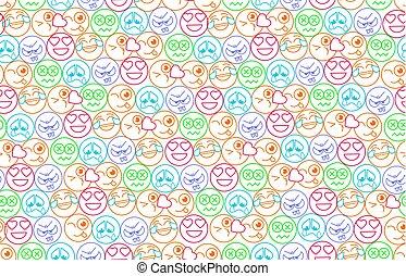 forma, mosoly, háttér, seamless