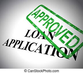 forwarded, forma, pénz, kölcsönad, -, kölcsönvevés, ábra, jóváhagyott, alkalmazás, látszik, előre egyeztetett, 3