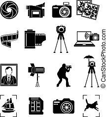 fotográfia, állhatatos, ikonok