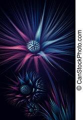 fractal, elvont, virág