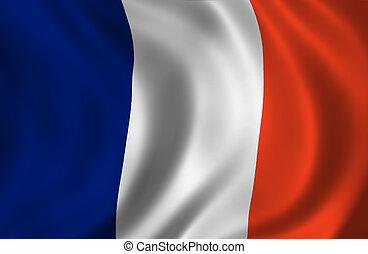 francia, hullámos, lobogó