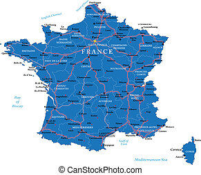 franciaország, térkép
