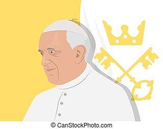 francis, pápa, ábra