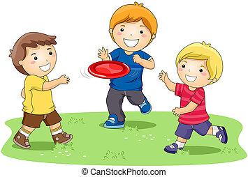 frisbee, játék