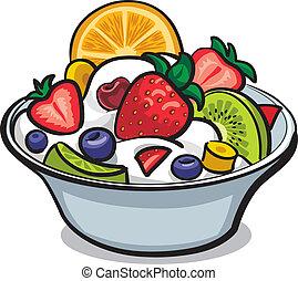 friss gyümölcs saláta