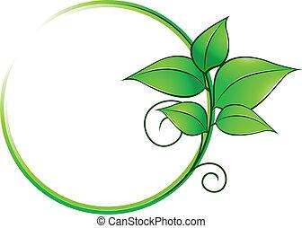 friss, keret, zöld kilépő
