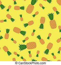 friss, seamless, érett, ananász