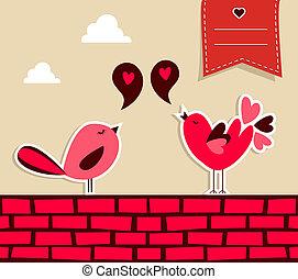 friss, társadalmi, szeret madár, média