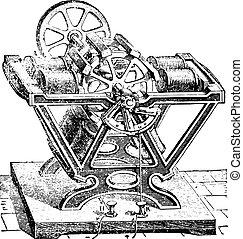 froment, engraving., gép, szüret