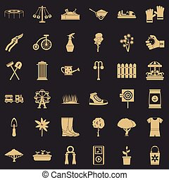 fruiter, állhatatos, mód, együgyű icons