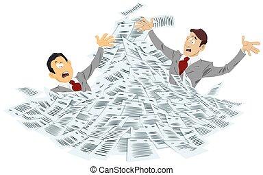 fulladás, üzletember, megrohamoz, documents.