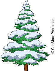 fur-tree, hó