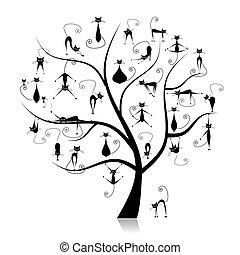 furcsa, 27, családfa, körvonal, korbácsok, fekete