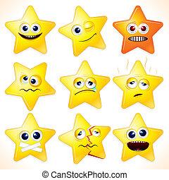 furcsa, csillaggal díszít