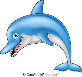 furcsa, delfin, karikatúra