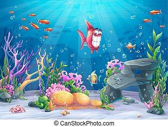furcsa, fish, tenger alatti