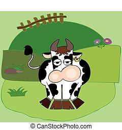 furcsa, tejcsarnok, cow.