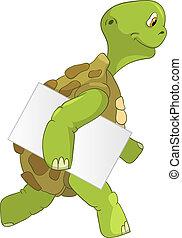 furcsa, turtle., courier.