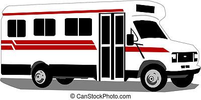 furgon, mentőautó