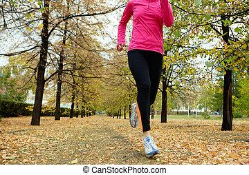 futás, ősz