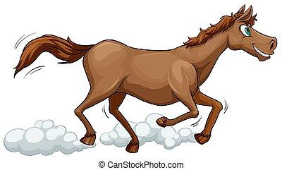 futás, ló