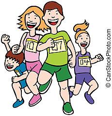 futás, művészet, család