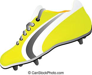 futball cipő, labda