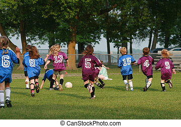 futball, fiatal, befog