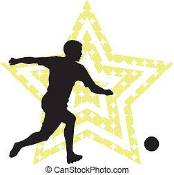 futball, fogalom, csillag