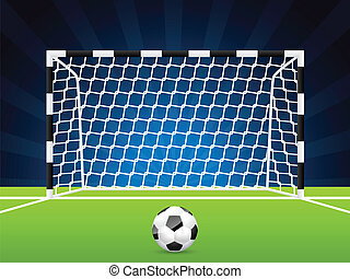 futball, kapu, labda, háló