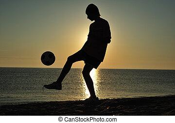 futball, napnyugta