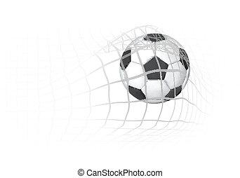 futball nettó, labda, gól