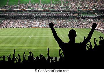 futball, rajongó, ünneplés