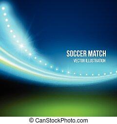 futballmeccs, vektor, stadium., ábra