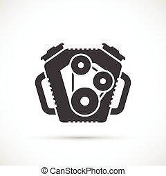 gép, autó, ikon