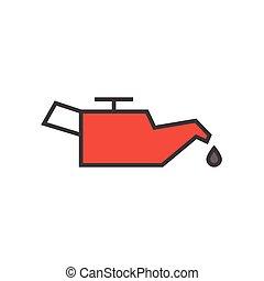 gép, autó, olaj, ikon